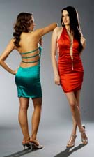 Atria 5017 Turquoise/Red Dress
