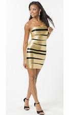Atria 5139 Gold/Black Dress