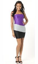 Atria 5140 Purple/Silver/Black Dress