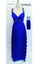 Betsy and Adam 019416 Blue Dress