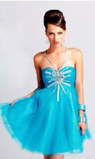 Blush 9002 Blue Dress