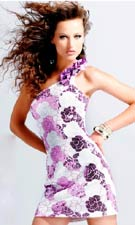 Blush 9014 White/Mulberry Dress