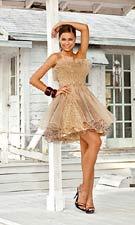 Blush 9285 Champagne Dress