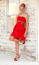 Blush 9293 Red Dress