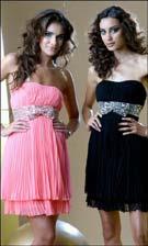 Bow 59706 Coral/Black Dress