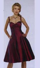 Dave & Johnny 3802 Burgundy Dress