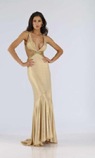 Dave And Johnny 4360 Gold Dress