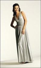 Faviana 6106 Silver Dress