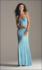 Faviana 6140 Sky Blue Dress