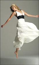 Faviana 6156 Ivory/Black Dress
