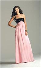 Faviana 6157 Pink/Black Dress