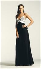 Faviana 6188 Black and White Dress