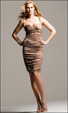 Faviana 6200 Latte Dress