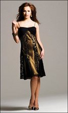 Faviana 6201 Black Gold Dress