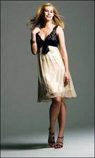 Faviana 6203 Black Tan Dress