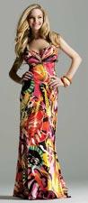 Faviana 6300 Printed Dress