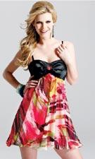 Faviana Print Dress 6448