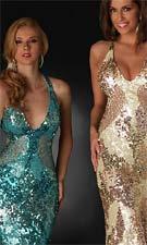 Flash 3497L Turquoise/Ivory/Gold Dress