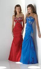 Flirt 1366 Scarlet/Cobalt Dress