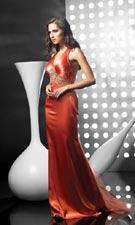 Jasz 4058 Orange Dress
