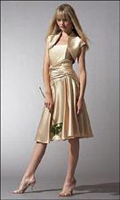 Jessica McClintock 17337 Gold Dress