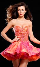 Jovani 153838 Orange Dress