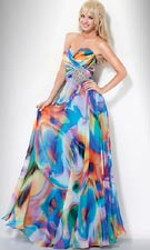 Jovani 7216 Print Dress