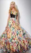 Jovani 7483 Print Dress