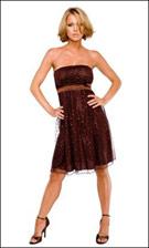 Kitty 4633 Brown Dress