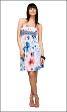 Kitty 4706 Blue/Piink Dress
