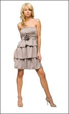 Kitty 4720 Taupe Dress