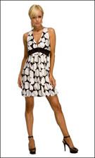 Kitty 4769 Black and White Dress