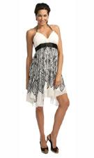 Kitty 4940 White/Black Dress