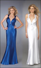 La Femme 12298w Blue/White Dress