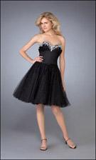 La Femme 13885 Black Dress