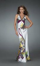 La Femme 14227 Purple Dress