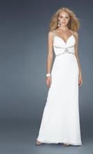 La Femme 14379 White Dress