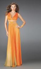 La Femme 14422 Orange Dress