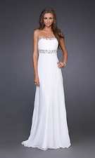 La Femme 15027 White Dress