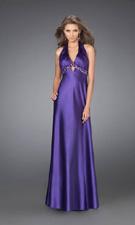La Femme 15070 Purple Dress