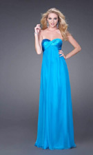 La Femme 15084 Turquoise Dress