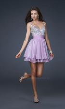 La Femme 16813 Lavender Dress