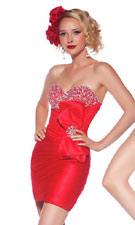 Mac Duggal 81495R Red Dress