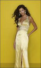 Mori Lee 7260 Gold Dress