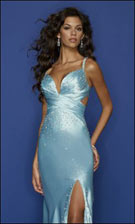 Mori Lee 7271 Blue Dress