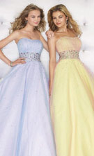 Mori Lee 8101 Blue/Yellow Dress
