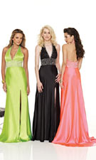 Mori Lee 8518 Green/Black/Pink Dress