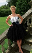 Night Moves 6076 Black/White Dress