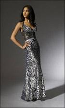 Niki 16094 Black and White Dress