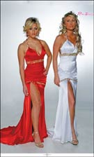Riva 7933 Apple/White Dress
